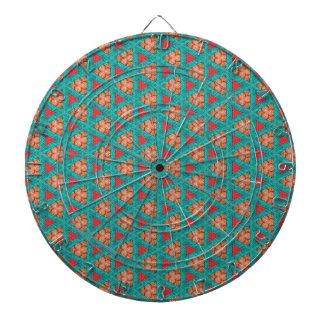 Cibles De Fléchettes motif orange bleu