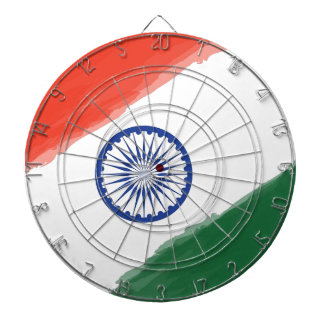 Cibles De Fléchettes Nation nationale de pays de l'Inde de drapeau
