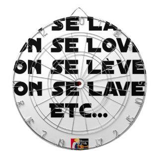 CIBLES DE FLÉCHETTES ON SE LAVE, ON SE LOVE, ON SE LÈVE, ON SE LAVE