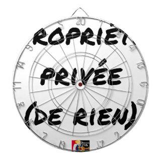 Cibles De Fléchettes PROPRIÉTÉ PRIVÉE - Jeux de mots - Francois Ville