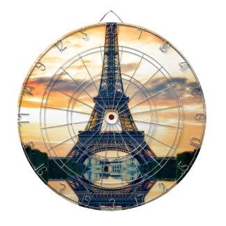 Cibles De Fléchettes Tour Eiffel Paris même le voyage européen