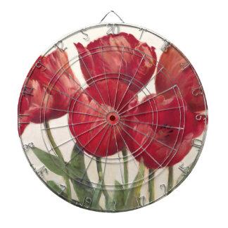Cibles De Fléchettes Tulipes rouges