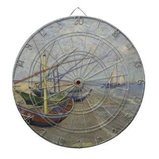 Cibles De Fléchettes Vincent van Gogh - bateaux de pêche sur Saintes