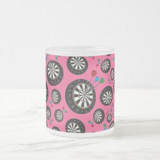 Cibles roses mug en verre givré