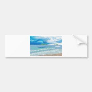 Ciel au-dessus d'art de plage autocollant de voiture