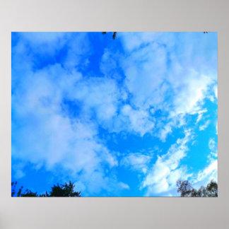 """Ciel bleu 20"""" x 16"""", papier d'affiche de valeur poster"""