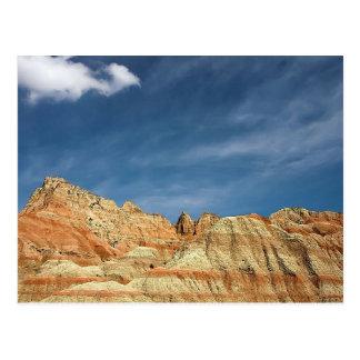 Ciel bleu de couleur arénacée de parc national de carte postale