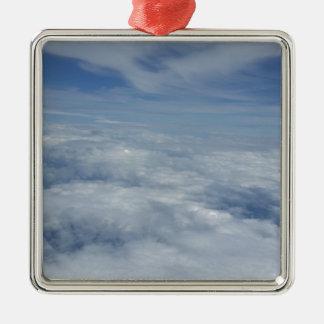 ciel bleu de matin ornement carré argenté