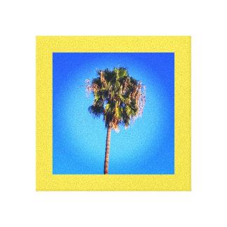 Ciel bleu de palmier toile