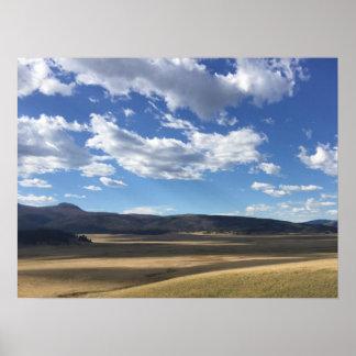 Ciel bleu du Nouveau Mexique et affiche lumineux Posters