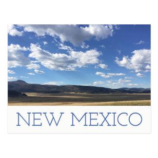 Ciel bleu du Nouveau Mexique et carte postale