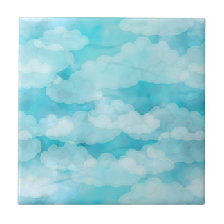 Ciel bleu, nuages blancs, Cloudscape, ciel nuageux Carreau