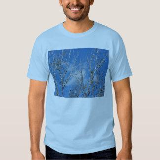 Ciel bleu par la cime d'arbre t-shirt