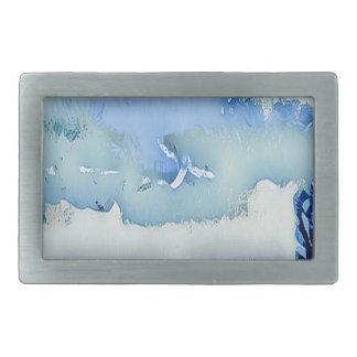 Ciel coloré d'horizon d'abrégé sur bleu d'hiver boucle de ceinture rectangulaire