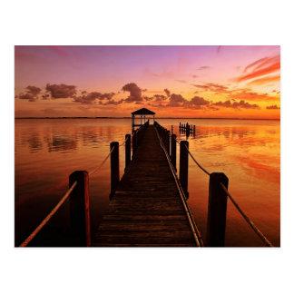 Ciel de coucher du soleil cartes postales