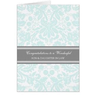 Ciel de félicitations de mariage de fils et de carte de vœux