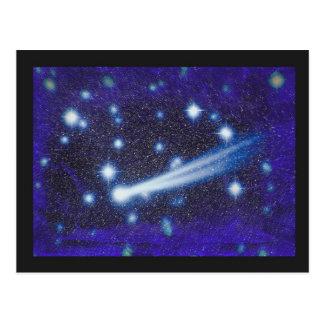 Ciel étoilé et asteroïde de l'espace carte postale