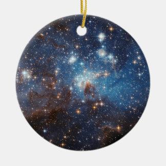 Ciel étoilé ornement rond en céramique