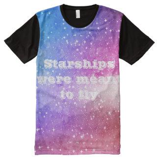 Ciel étoilé pourpre bleu de galaxie t-shirt tout imprimé