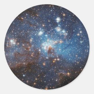Ciel étoilé sticker rond