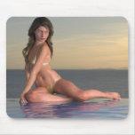 Ciel Mousepad de Reby de fille de piscine Tapis De Souris