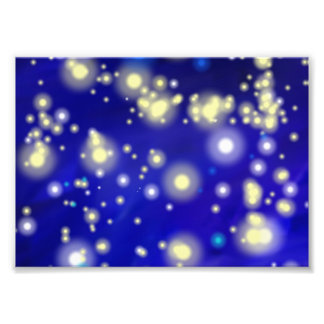 Ciel nocturne bleu 32,2 impression photo