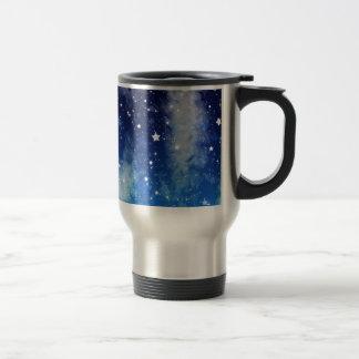 Ciel nocturne bleu étoilé mug de voyage