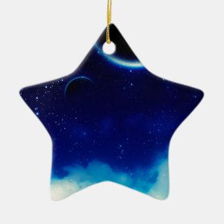 Ciel nocturne étoilé ornement étoile en céramique