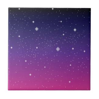 Ciel nocturne étoilé pourpre foncé petit carreau carré