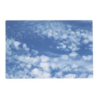 Ciel nuageux set de table stratifié