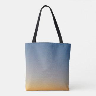 ciel orange bleu de soirée d'arrière - plan de sac