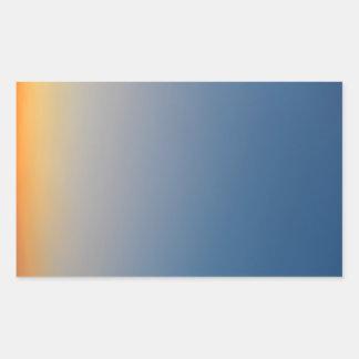 ciel orange bleu de soirée d'arrière - plan de sticker rectangulaire