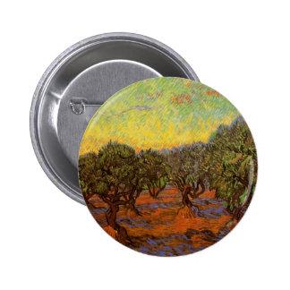 Ciel orange de verger olive de Van Gogh, Pin's