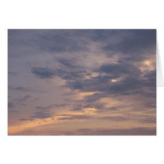 Ciel peint avec la carte de poème de changement