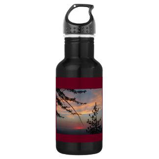 Cieux de coucher du soleil bouteille d'eau de 18