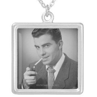 Cigarette d'éclairage d'homme pendentif carré