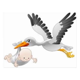 cigogne et bébé cartes postales
