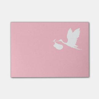 Cigogne rose et blanche de vol