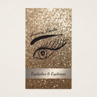 cils et sourcil scintillants élégants fascinants cartes de visite