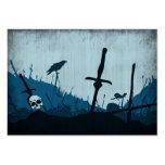 Cimetière avec des crânes et Ravens Modèles De Cartes De Visite