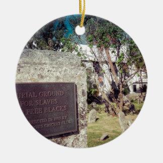 Cimetière d'esclaves ornement rond en céramique