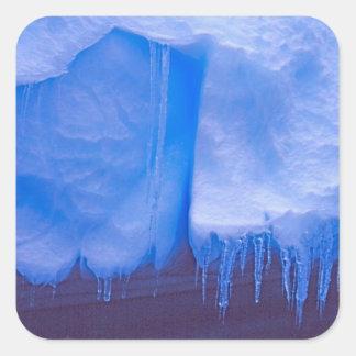 Cimetière d'iceberg de Pleneau, Antarctique : Bleu Sticker Carré