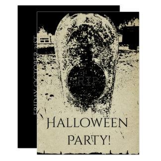 Cimetière hanté, obscurité grave déplaisante de carton d'invitation  12,7 cm x 17,78 cm
