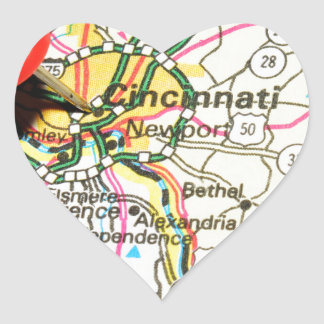 Cincinnati Sticker Cœur
