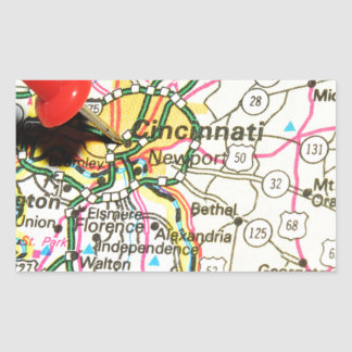 Cincinnati Sticker Rectangulaire