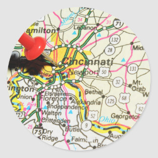 Cincinnati Sticker Rond