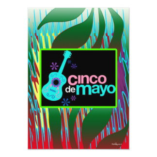 Cinco De Mayo Carton D'invitation 12,7 Cm X 17,78 Cm