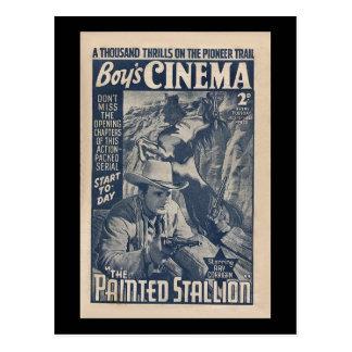 Cinéma 1938 de garçons - l'étalon peint carte postale