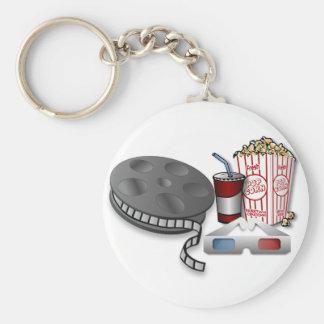 cinéma 3D Porte-clé Rond