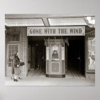 Cinéma du sud, 1940. Photo vintage Posters